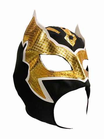 SIN CARA Youth Young Adult Lucha Libre Wrestling Mask - Open Mouth Black