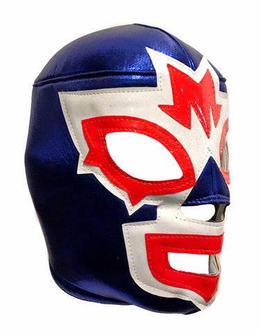 MASK MANIAC Adult Lucha Libre Wrestling Mask (pro-fit) Blue/White