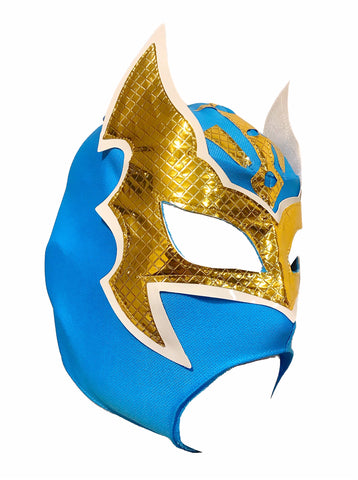 SIN CARA Youth Young Adult Lucha Libre Wrestling Mask - Open Mouth Teal