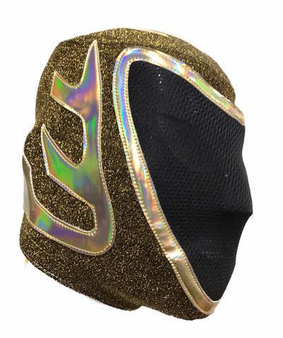 TINIEBLAS (pro-LYCRA) Ring Ready Adult Lucha Libre Wrestling Mask - Gold