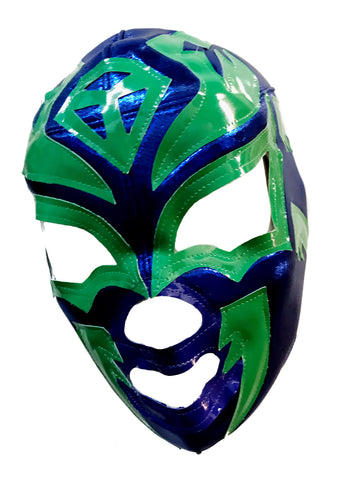 SOMBRA Lucha Libre Wrestling Mask (pro-fit) Blue/Green