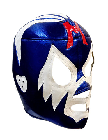 MIL MASCARAS Lucha Libre Wrestling Mask (pro-fit) Blue/White