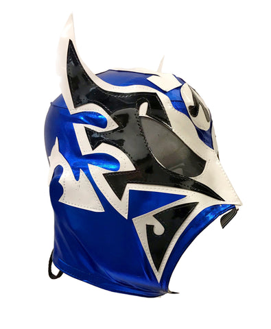 ULTIMO GUERRERO (pro-LYCRA) Adult Lucha Libre Wrestling Mask - Blue/White