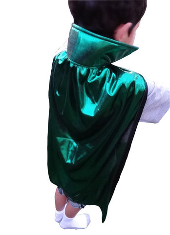 "YOUTH KIDS 30"" Lucha Libre Halloween Costume Cape - Metallic Green"
