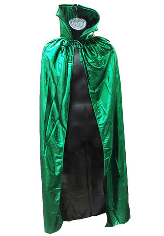 "ADULT LUCHADOR 54"" Lucha Libre Halloween Costume Cape - Metallic Green"