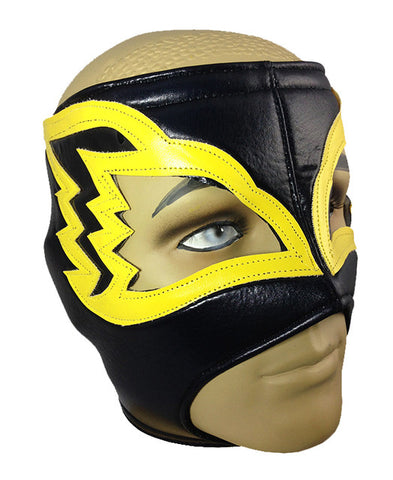 WHITE HAWK Adult Lucha Libre Wrestling Mask (pro-fit) Black/Yellow
