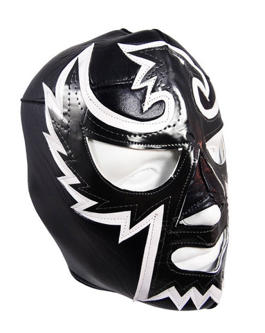 HALCON NEGRO Lucha Libre Wrestling Mask (pro-fit) Black/White