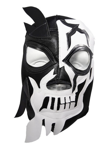 HALLOWEEN SKULL Lucha Libre Wrestling Mask (pro-fit) Black/White