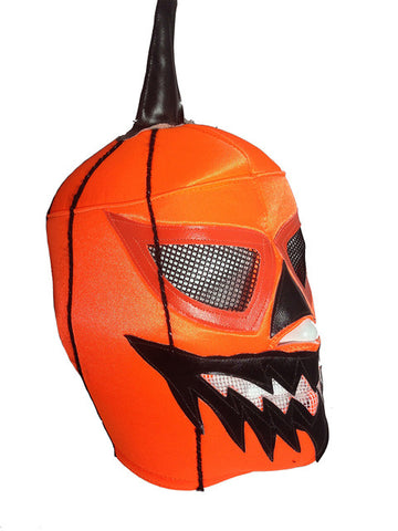 JACK O LANTERN Halloween Lucha Libre Adult Wrestling Mask (pro-fit) Hot Orange