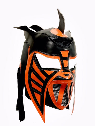 HYSTERIA Lucha Libre Wrestling Mask (pro-fit) Black/Orange