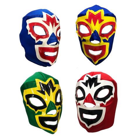 4 pack Mask Maniac Adult Lucha Libre Party Set - 4 masks