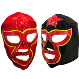 2 pack STAR MAN Adult Lucha Libre Party Set - Red Black