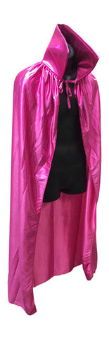 "ADULT LUCHADOR 54"" Lucha Libre Halloween Costume Cape - Metallic Pink"