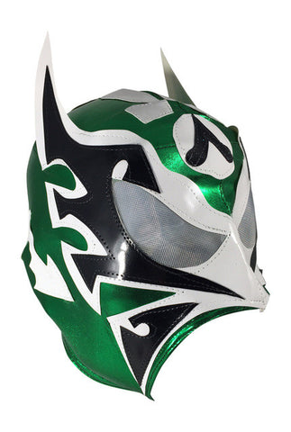 ULTIMO GUERRERO (pro-LYCRA) Adult Lucha Libre Wrestling Mask - Green/White