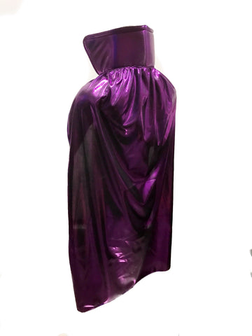 "YOUTH KIDS 30"" Lucha Libre Halloween Costume Cape - Metallic Purple"
