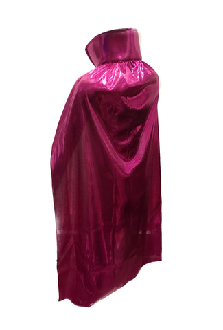 "YOUTH KIDS 30"" Lucha Libre Halloween Costume Cape - Metallic Pink"