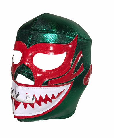 MIL MASCARAS SHARK Lucha Libre Wrestling Mask (pro-fit) Green