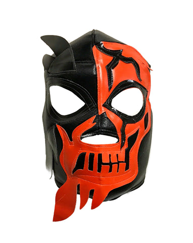 HALLOWEEN SKULL Lucha Libre Wrestling Mask (pro-fit) Black/Orange