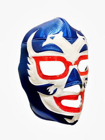 DOS CARAS Lucha Libre Wrestling Mask (pro-fit) Blue/White