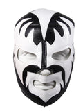 KISS DEMON Lucha Libre Wrestling Mask (pro-fit) Black/White