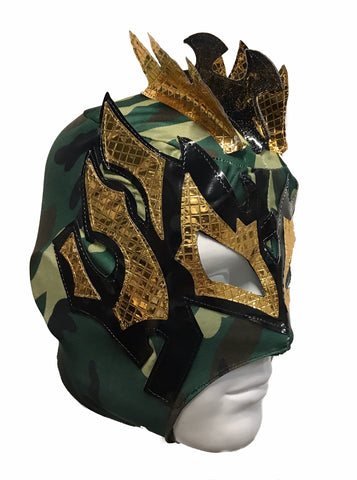 KALISTO Youth Young Adult Lucha Libre Wrestling Mask - Cammo