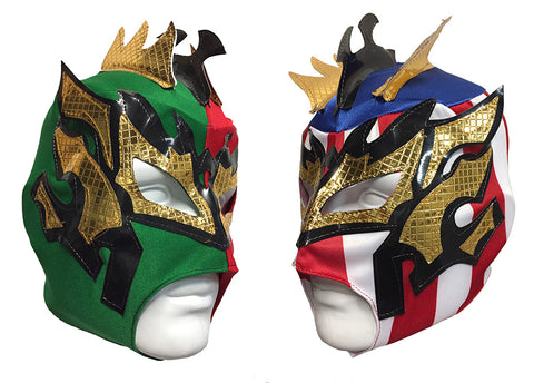 2pk KALISTO Youth Young Adult Lucha Libre Wrestling Mask - MEXICO/USA