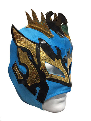 KALISTO Youth Young Adult Lucha Libre Wrestling Mask - Teal Blue