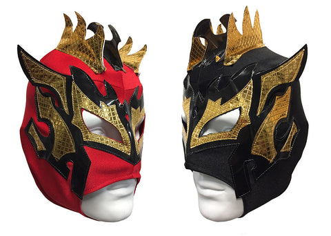 2pk KALISTO Youth Young Adult Lucha Libre Wrestling Mask - Red/Black