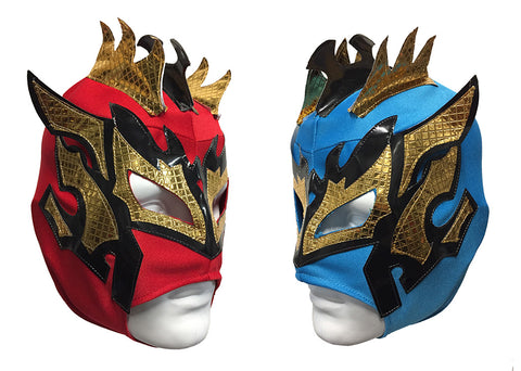 2pk KALISTO Youth Young Adult Lucha Libre Wrestling Mask - Red/Blue