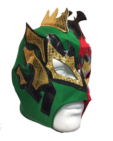 KALISTO Youth Young Adult Lucha Libre Wrestling Mask - Red/Green