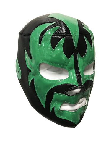 KISS DEMON Lucha Libre Wrestling Mask (pro-fit) Black/Green
