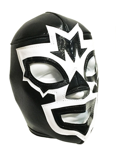 MASK MANIAC Adult Lucha Libre Wrestling Mask (pro-fit) Black/White