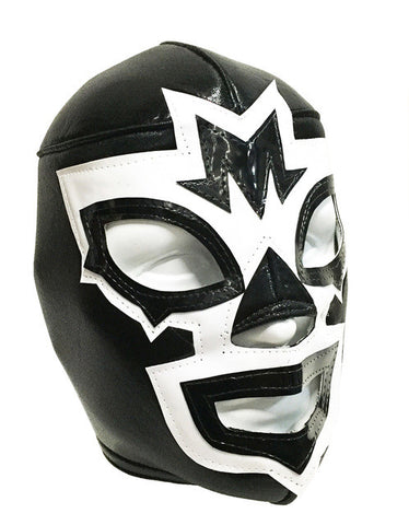 MASK MANIAC Branded Lucha Libre Wrestling Mask (pro-fit) Black/White
