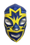 MASK MANIAC Adult Lucha Libre Wrestling Mask (pro-fit) Blue/Yellow