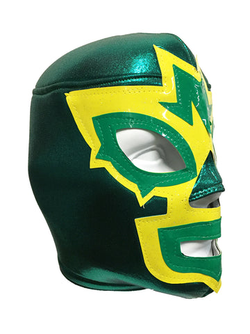 MASK MANIAC Adult Lucha Libre Wrestling Mask (pro-fit) Green/Yellow