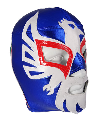 MEXICANO Lucha Libre Wrestling Mask (pro-fit) Blue/White