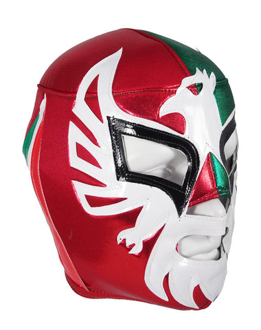 MEXICANO Lucha Libre Wrestling Mask (pro-fit) Red/Green