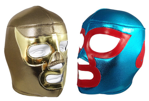 2 pack NACHO LIBRE & RAMSES Adult Lucha Libre Wrestling Mask