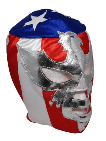 PATRIOT Youth Young Adult Lucha Libre Wrestling Mask - Blue/White/Red