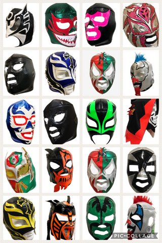 20 pack Assorted Adult Lucha Libre Wrestling Mask Party Package - 20 mask bundle