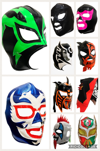 10 pack Assorted Adult Lucha Libre Wrestling Mask Party Package - 10 mask bundle