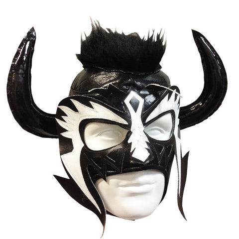 PSICOSIS Lucha Libre Wrestling Mask (pro-fit) Black/White/Black
