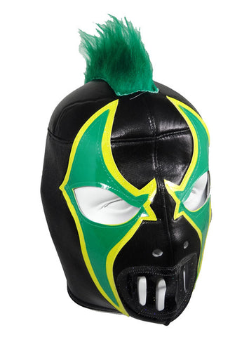 CRAZY CLOWN Halloween Lucha Libre Wrestling Mask (pro-fit) Black/Green