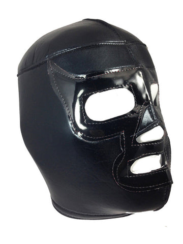 BLACK RAMSES Lucha Libre Adult Wrestling Mask (pro-fit) Black