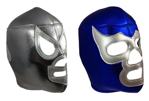 2 pack SANTO & BLUE DEMON Adult Lucha Libre Wrestling Masks