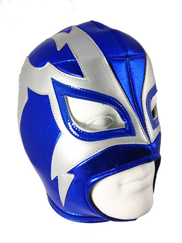 SHOCKER Lucha Libre Wrestling Mask (pro-fit) Blue/Grey