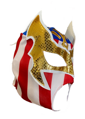 SIN CARA Youth Young Adult Lucha Libre Wrestling Mask - Open Mouth USA