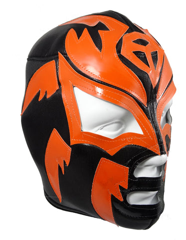 SOMBRA Lucha Libre Wrestling Mask (pro-fit) Black/Orange