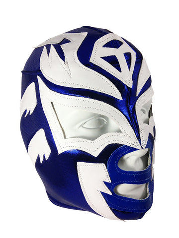 SOMBRA Adult Lucha Libre Wrestling Mask (pro-fit) Blue/White