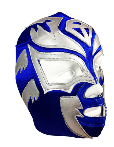 SOMBRA Lucha Libre Wrestling Mask (pro-fit) Blue/Grey